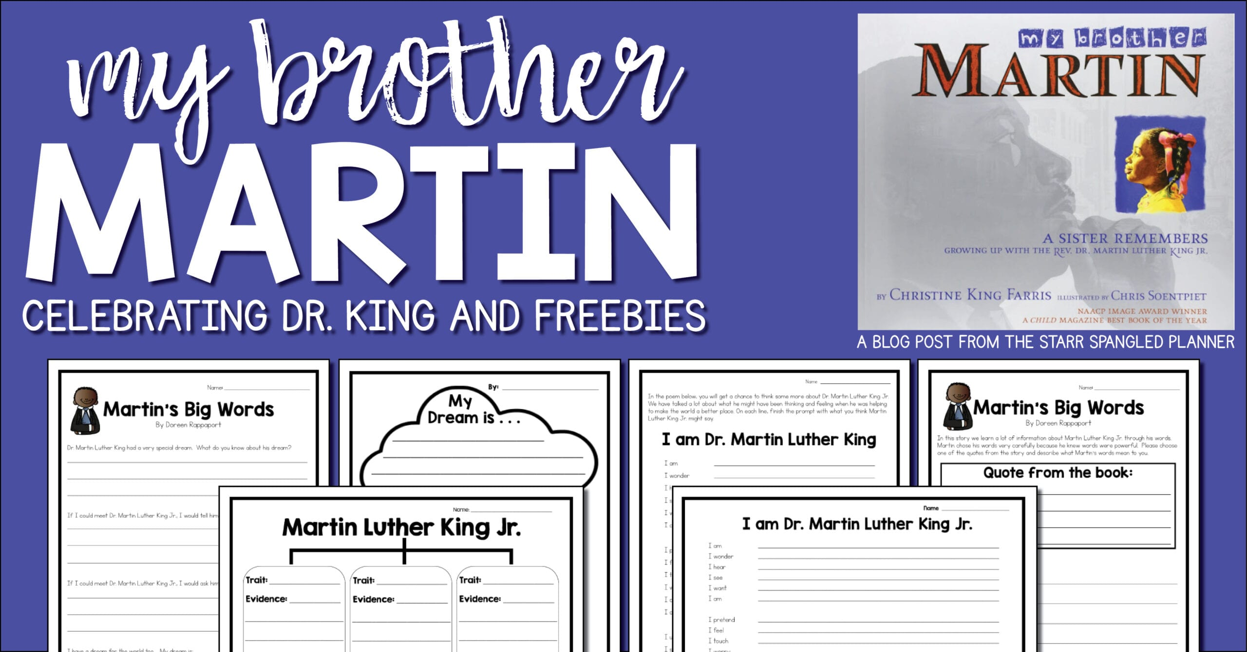 Martin Luther King Day Free Activity- My Brother Martin