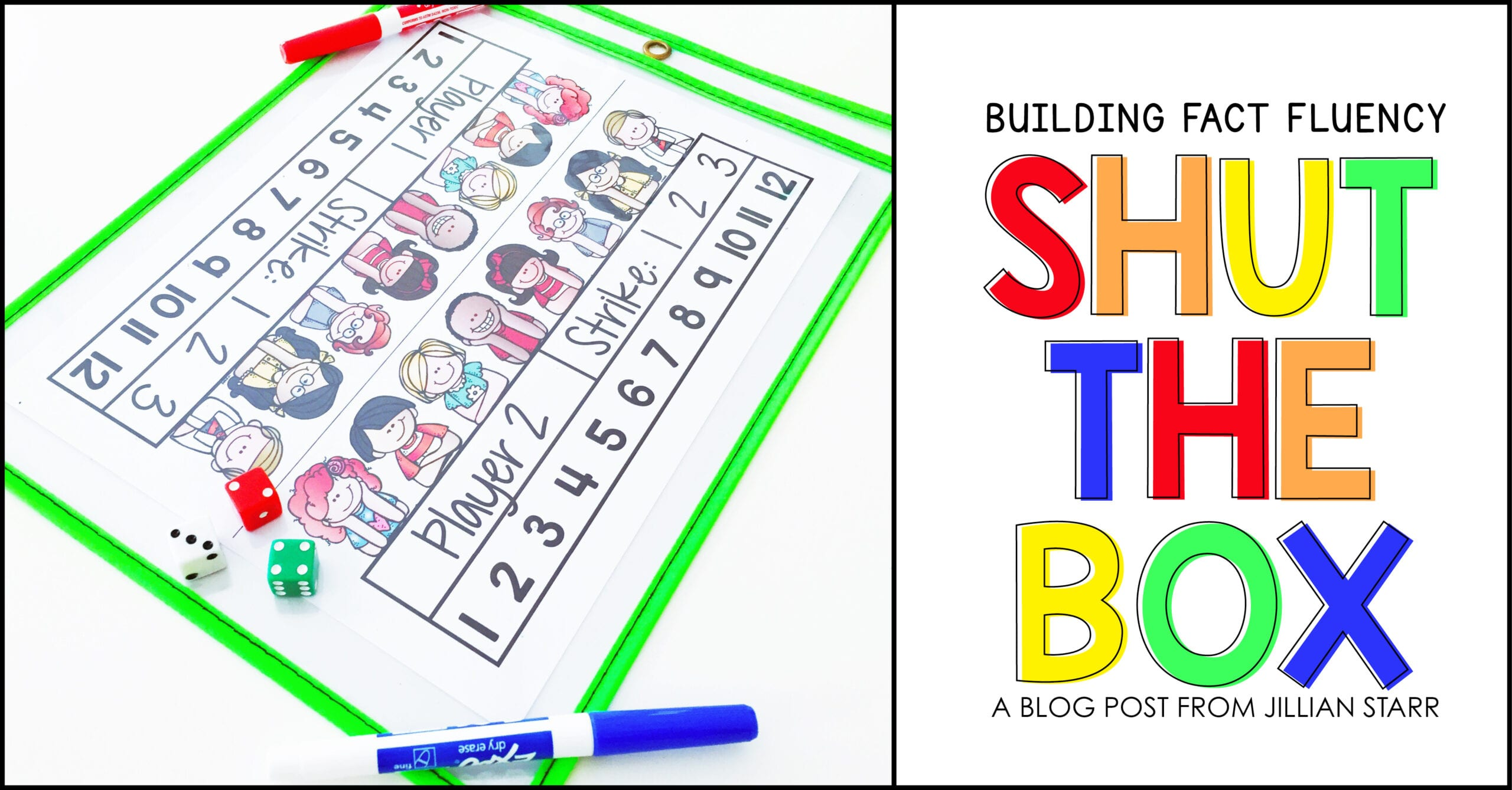 Math Center to build addition math fact fluency.  Practice addition facts with this fun math center game and build fluency for kindergarten, first and second graders.