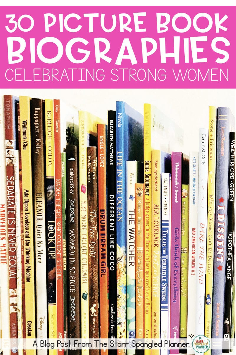 An awesome list of Picture Book Biographies highlighting strong women! Perfect read alouds for Women's History Month, and/or books for students to read in your classroom library all year round!
