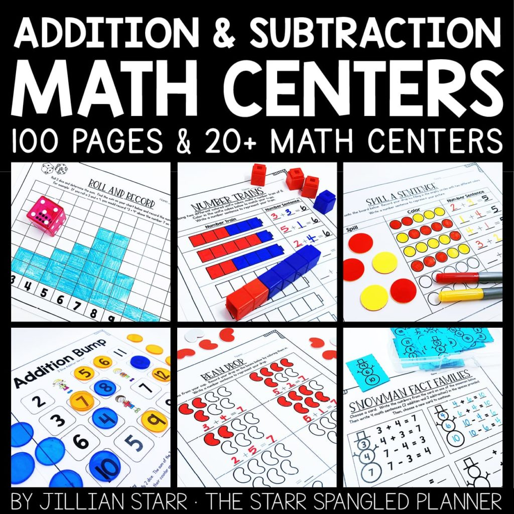 Addition & Subtraction Guided Math Centers