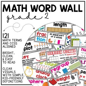 Math Word Wall Grade 2 (Common Core Aligned) Use to build math vocabulary