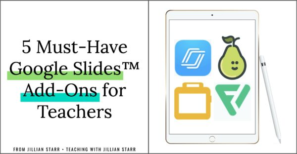 Are you using Google Slides™ this year? I'm excited to share with you five must-have Google Slides™ add-ons to support your virtual teaching this year!