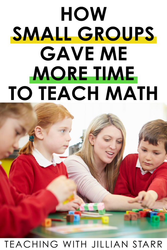 Don't feel like you have enough TIME to teach small groups. The interesting truth is that teaching in small groups actually gave me MORE time to teach math, AND that time was better spent. How is that possible you might ask? Well, let me explain three BIG ways that teaching in small group gave me back the time I was missing when teaching whole group. #guidedmath #smallgroup