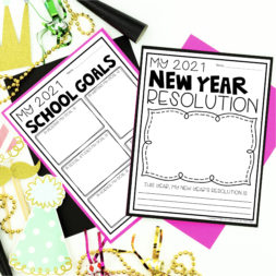 New Year Activities, Reflections and Resolutions for second, third and fourth graders. These fun and engaging activities are available as printables and digital (for google slides and Seesaw).