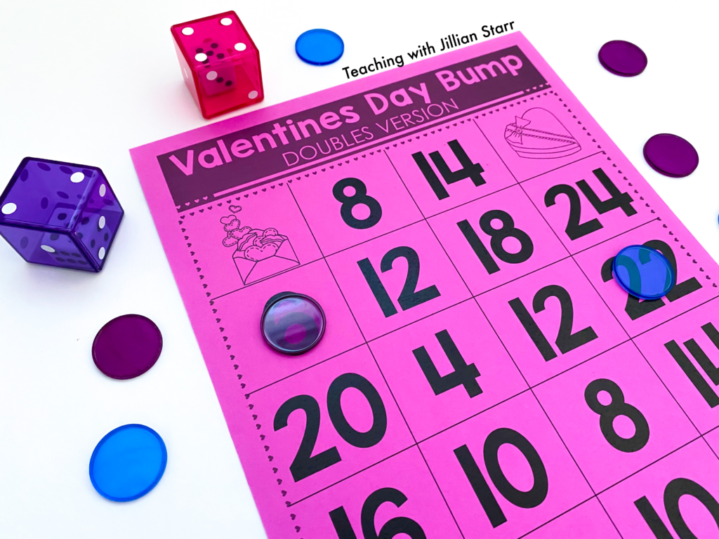 Valentine's Day Math Games! These fun addition activities are perfect for any first and second grade classroom. Free printable included!