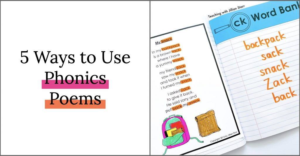 Phonics and Word Family Poems to use in Poetry Journals, Poetry Centers, and Shared Reading.