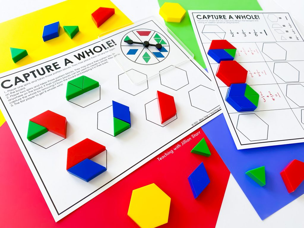 Capture a Whole Fraction Game