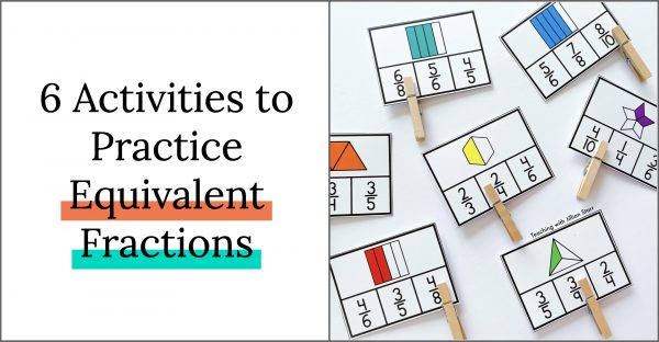 Here are six favorite equivalent fraction activities to give my third grade students the chance to explore and get extra hands-on practice!