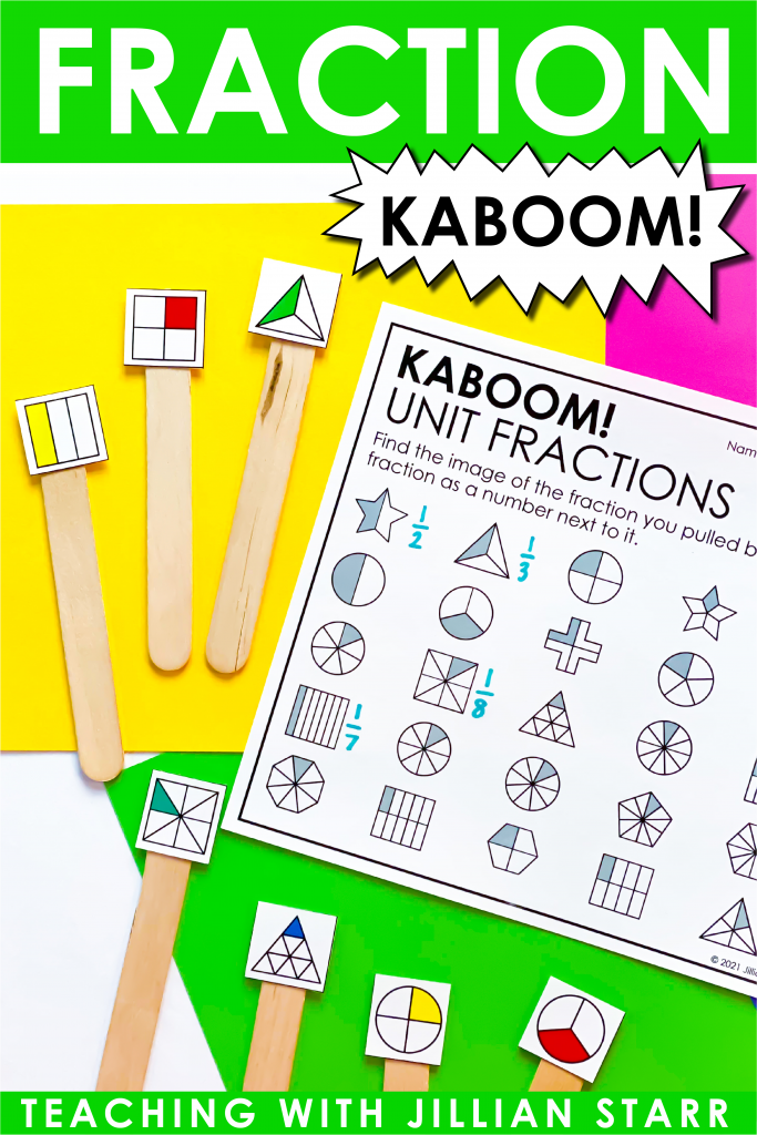 Engaging activities to introduce Unit Fractions in 3rd Grade