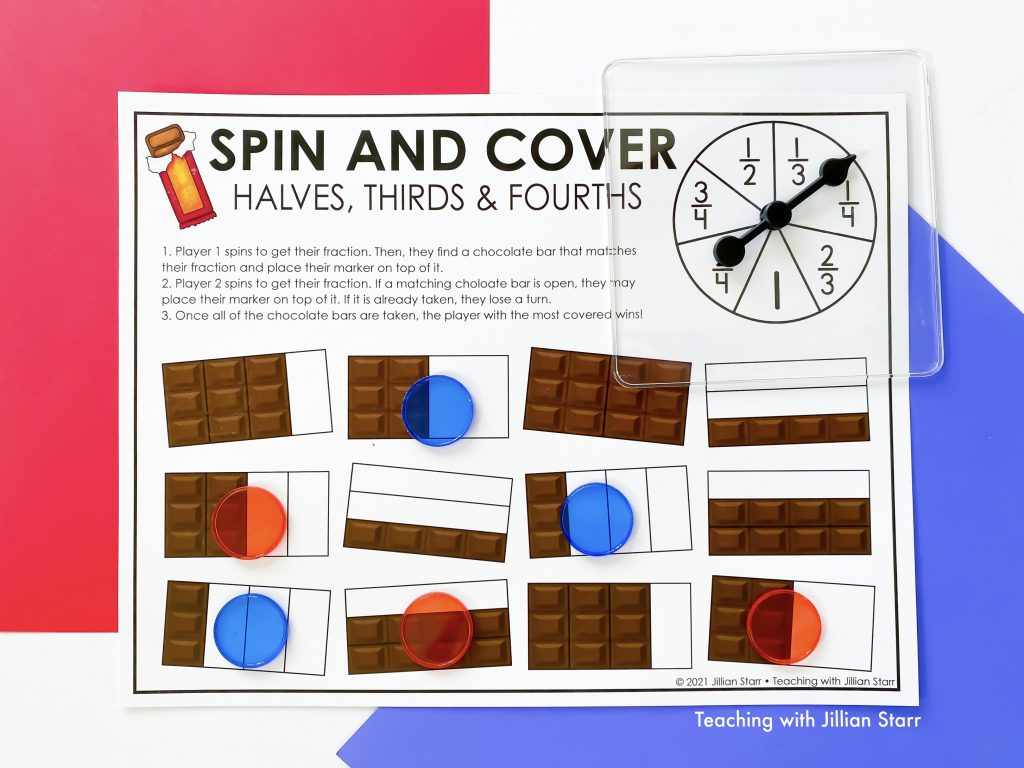 Fraction Spin and Cover Game