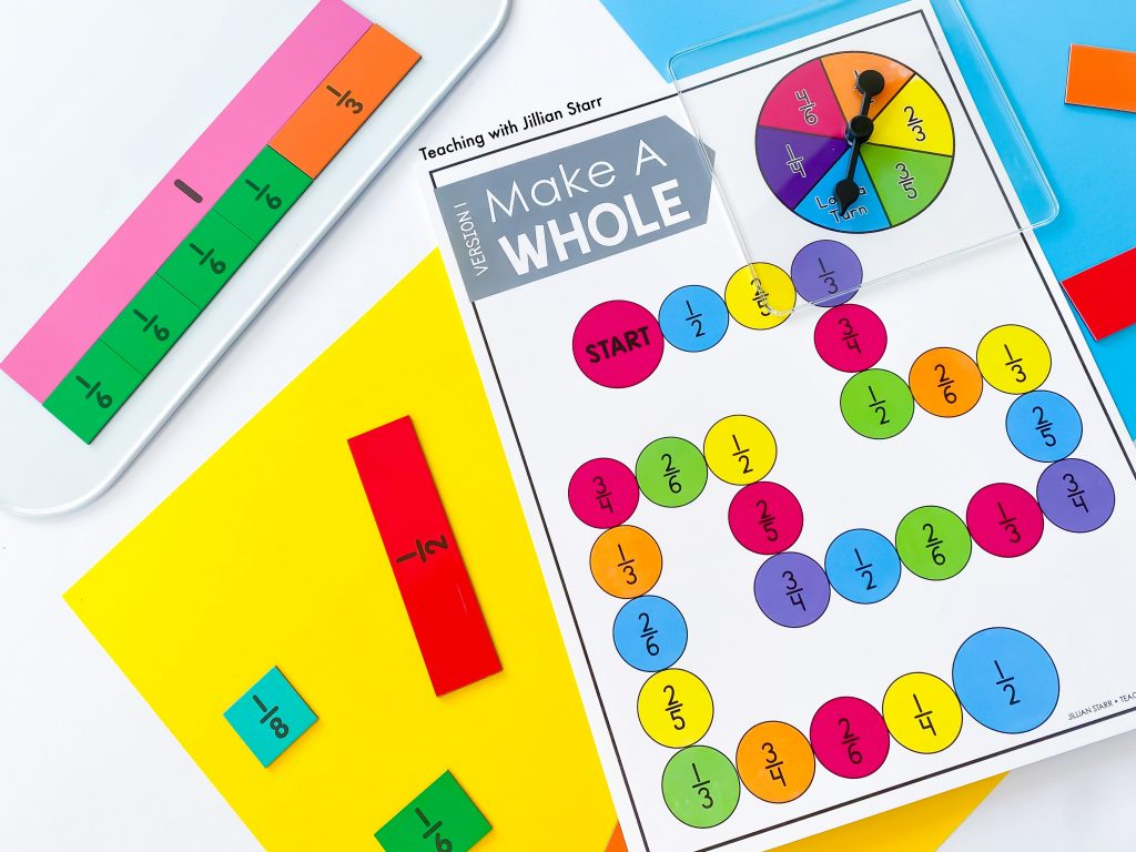 Make a Whole Fraction Game