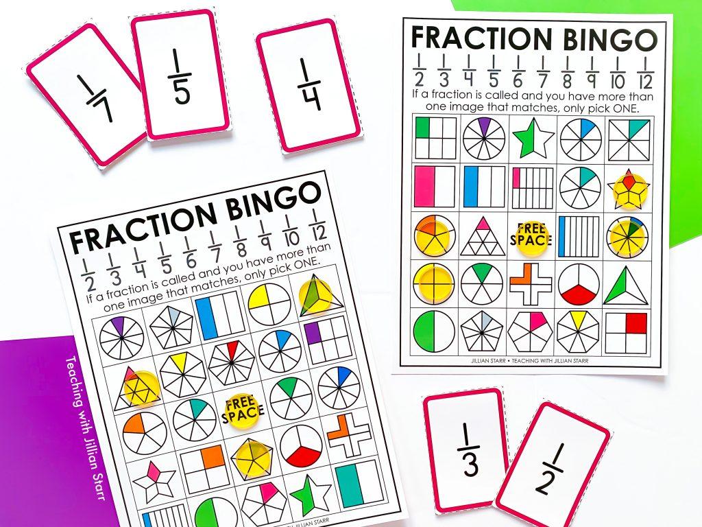 Unit Fraction Bingo game