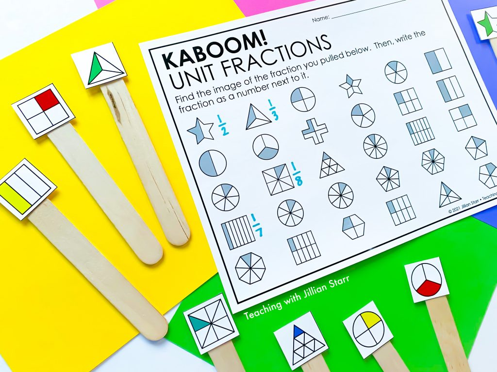 Unit Fraction Kaboom Game
