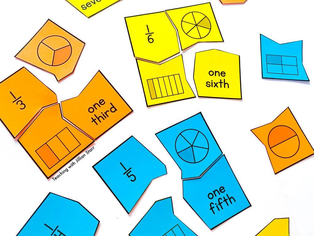 Unit Fraction Puzzles Activities