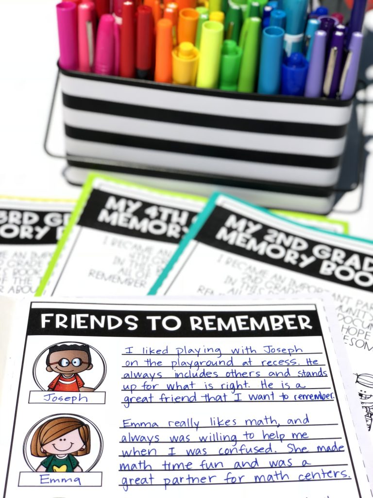 End of the year keepsake: memory books! This favorite EOY activity is perfect for students to remember their year.