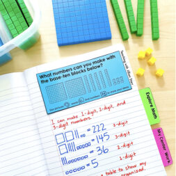 Math journal prompt for elementary classrooms.