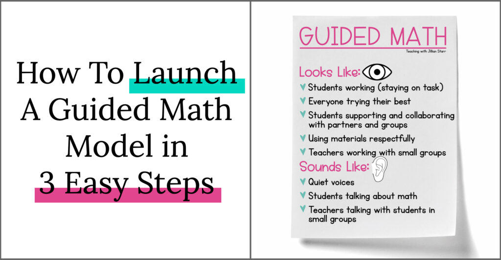 How to launch a guided math model in three easy steps. Guided math anchor chart.