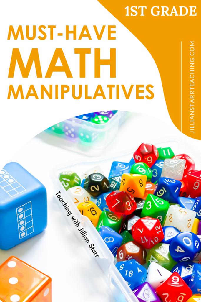 Math Manipulatives for First Grade Pin
