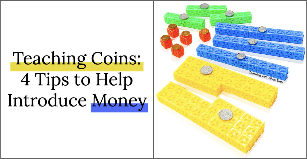 Teaching coins and money can be difficult. I'm going to share 4 tips to help teach coins and money that you're not going to want to miss!