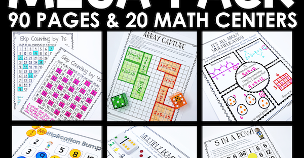 Multiplication Centers Pack